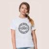 mockup tuo logo maglia da donna bianca digitalshirt