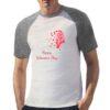Profilo Petali t-shirt bicolor personalizzata uomo digitalshirt grigia