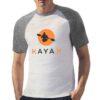 KayaK t-shirt bicolor personalizzata uomo digitalshirt grigia