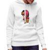 Women on Top felpa con cappuccio personalizzata donna digitalshirt bianca.jpg